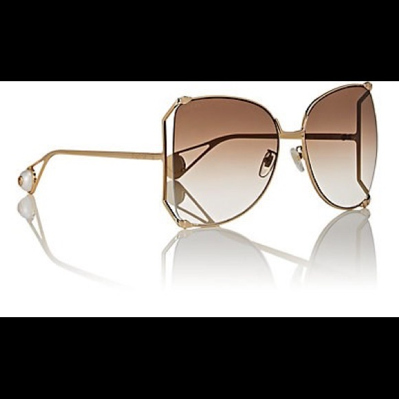 ca08dd2c392 Gucci Accessories - Gucci Oversized Metal Butterfly Sunglasses